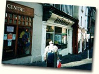 Barbara Ann doing some shopping on Main Street in Dunblane, Scotland